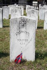 UNKNOWN SOLDIER GRAVE, LAUREL GROVE CEMETERY, SAVANNAH, GA 2009 (nordique72) Tags: cemetery georgia spring unknown savannah csa laurelgrovecemetery