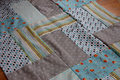 FMF Quilt Progress (Tiny House) Tags: blue grey aqua quilt gray fleamarketfancy