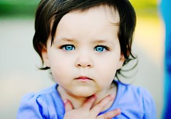 Baby Blue Eyes... (Shana Rae {Florabella Collection}) Tags: park blue portrait girl shirt eyes child lashes purple little gorgeous naturallight opk florabella nikond300 onedayimayactuallystartportfoliobuildinglol shanarae