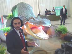 con su artista Rodolfo Salas