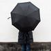 Black umbrella by Håkan Dahlström