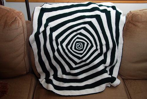 Baby OpArt Blanket - Pre-Blocking