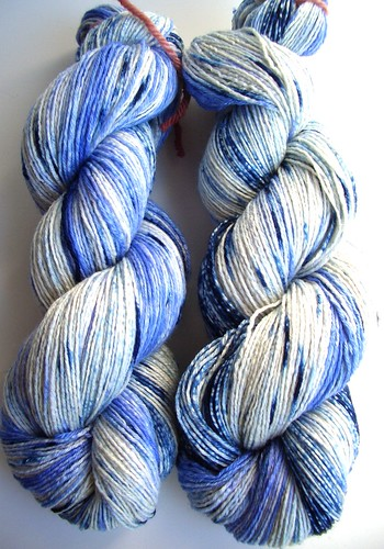 self dyed KnitPicks bare-merino-sil-fingering weight yarn-2skeins-3