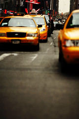 :: NYC Taxi :: (masamonster) Tags: newyorkcity usa zeiss canon t eos contax timesquare 5d f2 135mm planar