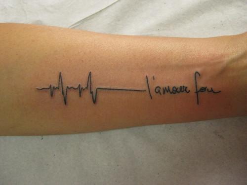 Tattoo ECG tatuagem L'amour Fou