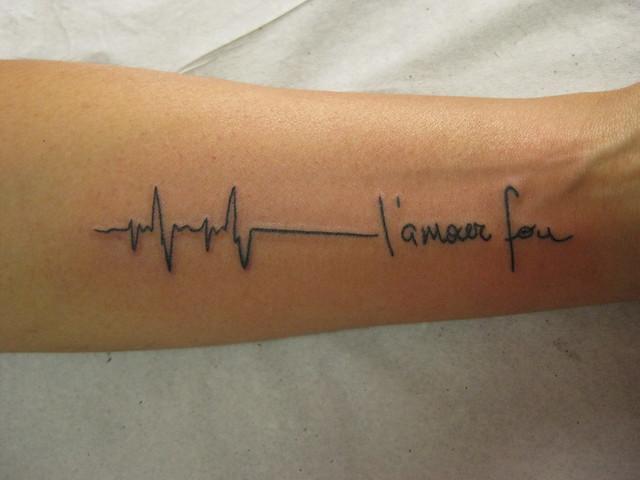 l amour fou. ECG tatuagem L#39;amour Fou