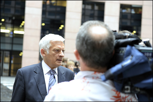 M. Jerzy Buzek, the new elected President of the European Parliament, at his arrival in Strasbourg, Monday 13 July 2009