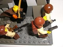 BBVC : WW2 Americans vs Ninjas (closeup) (Mr A.S.A) Tags: world 2 war lego ninja contest battle scene ww2 americans vs ninjas vignette bbvc brickarms