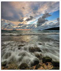 I am you; you are ME.  You are the waves; I am the ocean.  Know this and be free, be divine. (Nora Carol) Tags: ocean sea waves malaysianphotographer nikond90 noracarol sabahanphotographer srisathyasaibabaquotes landscapephotographerfromsabah womanlandscapephotographer womaninphotography