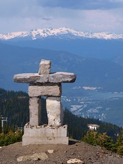 Vancouver Winter Olympics 2010 logo (mjiphoto - Mika) Tags: winter canada beautiful vancouver digital logo landscape whistler symbol olympus columbia british olympic inukshuk zuiko swd 2010 inuksuk zd inunnguaq e520 1260mm
