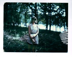 (Kate Pulley) Tags: summer amanda girl polaroid sister 320 packfilm iduv