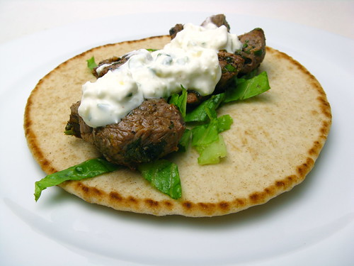 Grilled Lamb with Feta Spread