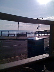 Porthcawl from the dining table