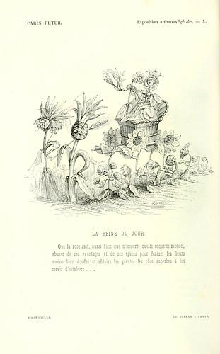 017-Exposicion animo-vegetal-la reina del dia-dibujado por Grandville