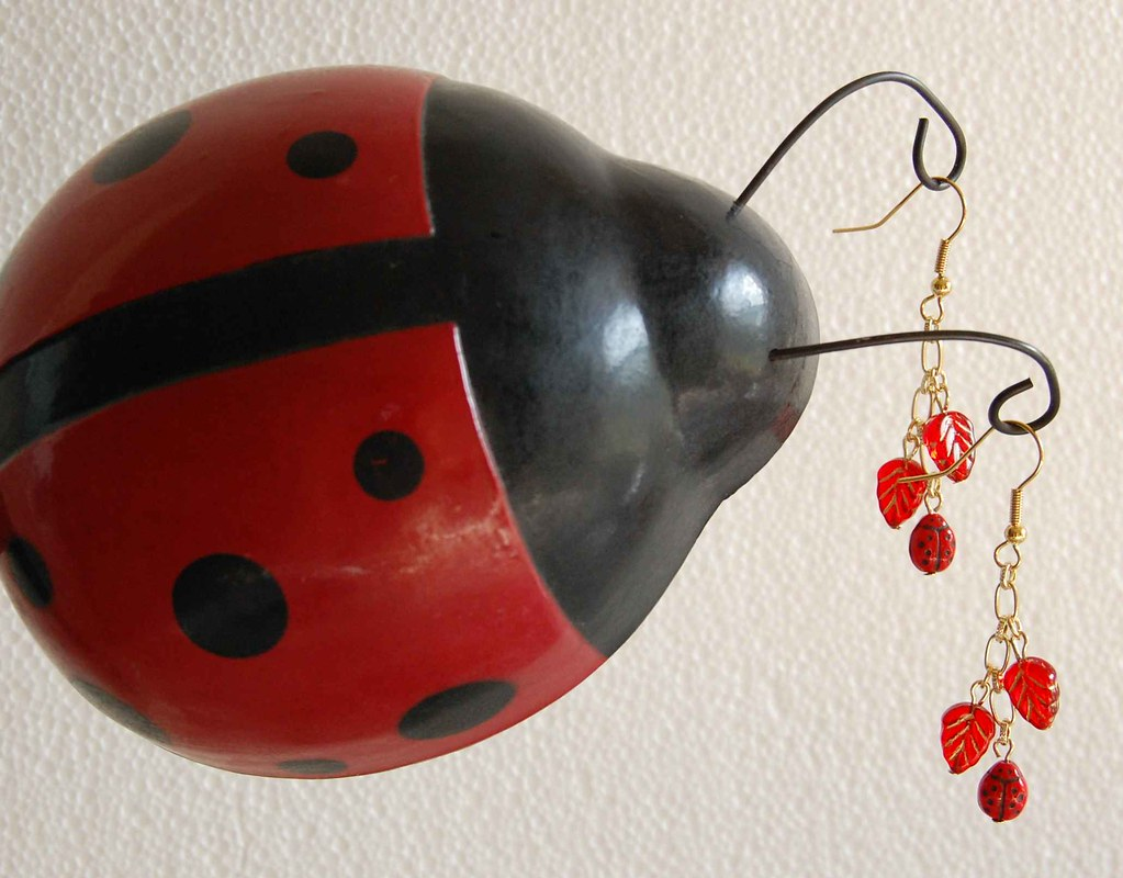 Ladybug Pierced Earrings