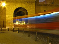Torres de Quart (TioTxus) Tags: door bus valencia night canon lights luces noche puerta long exposure nocturna nightlife autobus larga torres quart exposicin txus tiotxus