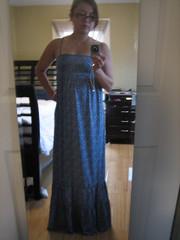 me w/a maxi dress