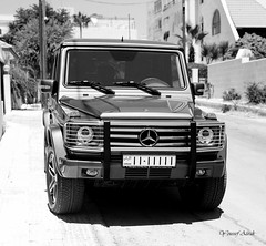 Mercedes G55 AMG in Jordan (Mr Azrakino) Tags: car 50mm mercedes pentax amman super voiture jordan exotic 2009 v8 g55 km amg kompressor youssef azrak k2000 fa50