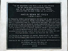 Icaza Story (Reinalasol) Tags: plaque flickr april panama 2009 ancon april2009 cerroancon deicaza panama2009 reinalasol ameliadenisdeicaza alcerroancon