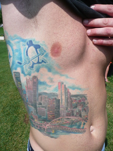 Throughout camp, we've seen dozens of folks with Steelers tattoos,
