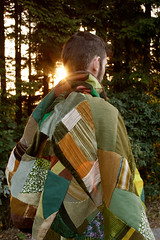 (mioke) Tags: sun man forest neck blanket dust patchwork gegenlicht sonder