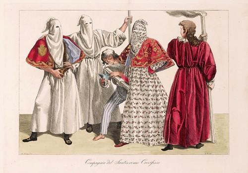 024 Costumi e descrizione delle processioni conosciute in Genova sotto il nome di casacce ricavati da quella di San Giacomo il maggiore delle focine 1828