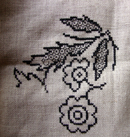 blackwork cross stitch