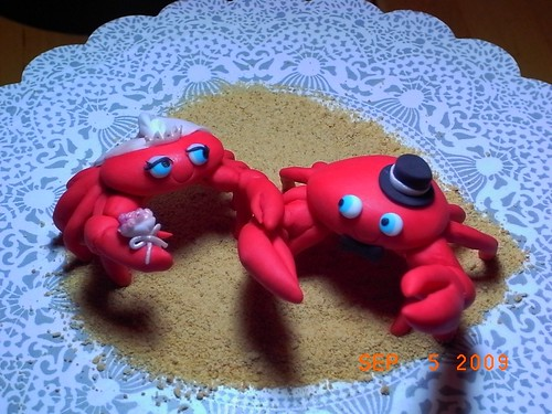 Fondant Crabs Wedding Cake Topper