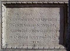 Epitaph (M.J.AL) Tags: deutschland badenwrttemberg uhland wurmlingerkapelle wurmlingen ammertal gu ludwiguhland badenwrttembergwanderweg hochdrobenaufdemberge