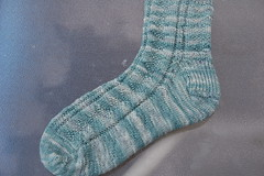 WendyKnits Diamond Gansey sock