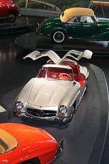 Mercedes-Benz (michab100) Tags: auto red rot classic cars museum vintage silver germany deutschland mercedes benz automobile stuttgart alt retro event oldtimer rare mib ausstellung silber badenwrttemberg selten flgeltren oldgermancar michab100