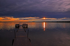 Pine Lake Boat Dock (jdmuth) Tags: northdakota