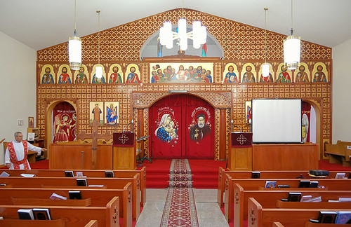 Saint Mary and Saint Abraam Coptic Orthodox Church, in Saint Louis County, Missouri, USA - nave