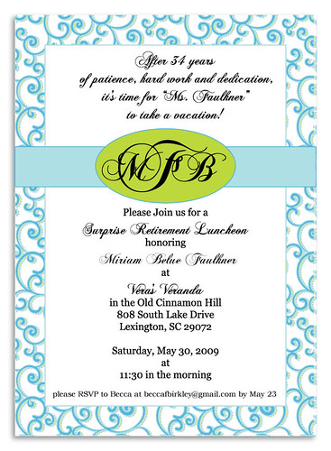 Surprise Retirement Party Invitations Party Invitations