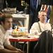 Russell Richardson and Scott Agar-Jaicks backstage--9-26-09