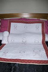 Kokeshi Crib Quilt (Tracy McL) Tags: quilting kokeshi cribquilt