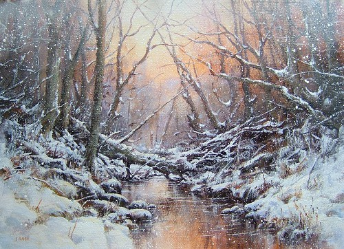 Paintings of Nature Scenes Winter Scene 'the Natural