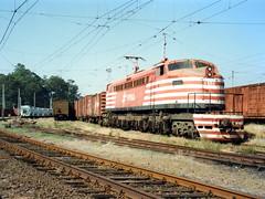 FPM99 Locomotiva Fepasa 6453 'Russa' (Fernando Picarelli Martins) Tags: russa generalelectric ferrovia fepasa locomotiva jundiaísp companhiapaulistadeestradasdeferro locomotivaelétrica ferroviapaulistasa cp453 fepasa6453 primeiraviagem1951