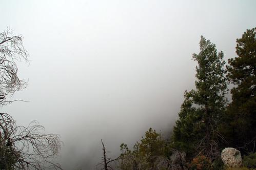 rock behind clouds