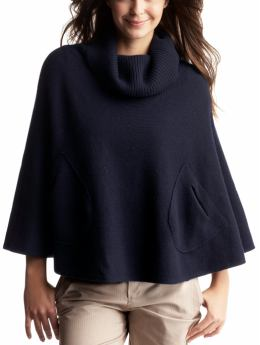 Gap wool poncho blue