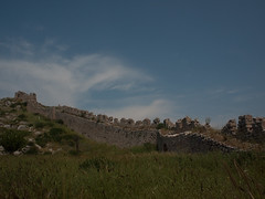 Ruined Walls (David R. Crowe) Tags: building history europe corinth places greece fortification greekhistory