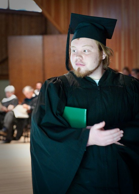 Grad Keeping Diploma Safe