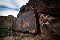 Where the Antelope Roam (ashergrey) Tags: longexposure utah petroglyph rockart freemont weldingglass ninemilecanyon daddycanyon