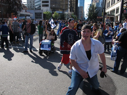 Canucks fan. Wearing AXE body spray.