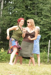Dancing to Back Porch Swing (cavemusic) Tags: music festival bluegrass sasquatch hippiechicks backporchswing