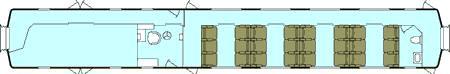 Train Chartering - UK Mk1 brake BFK First Cl car plan