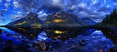 "Jenny Lake ""HDR MAX"" (kern.justin) Tags: lake reflection sunrise nikon d100 hdr grandtetonsnationalpark jennylake cascadecanyon mtmoran ariea azulazul kernjustin hdrmax"