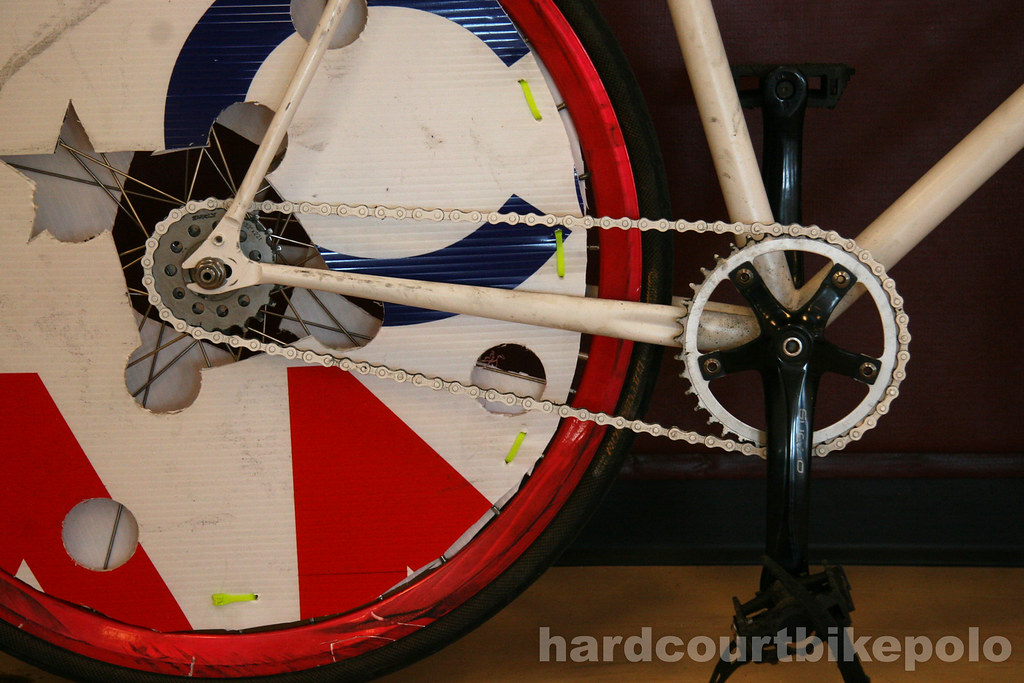 Tucker's hardcourt polo bike drivetrain