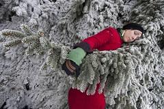 Shannon (austinspace) Tags: park winter portrait woman snow vintage washington spokane frost angle wide wideangle retro 1022mm manitopark manito