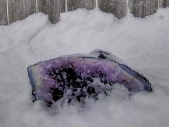 Burning Flower / Geode shoot - 12/14 (efindlicher) Tags: snow geode hdr gem